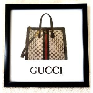 Other - Gucci Bag Framed Wall Art Decor Print